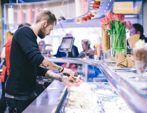 Produktfotografie für Eiscafé Calchera in Trier